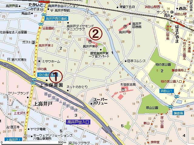 上水保育園避難所地図